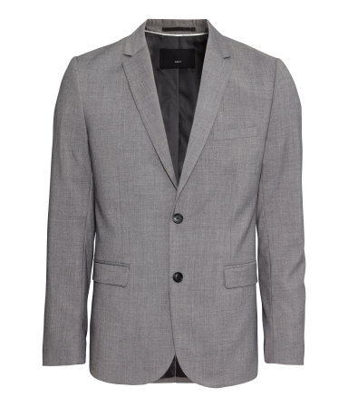 H&M grey blazer men
