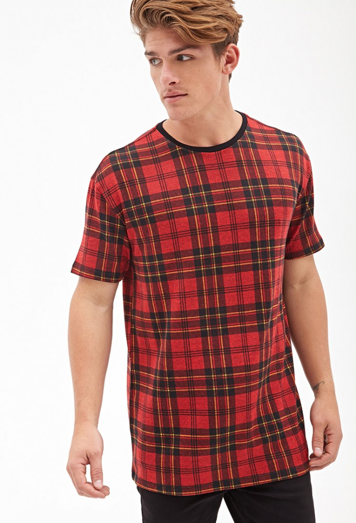 Forever 21 plaid print tee