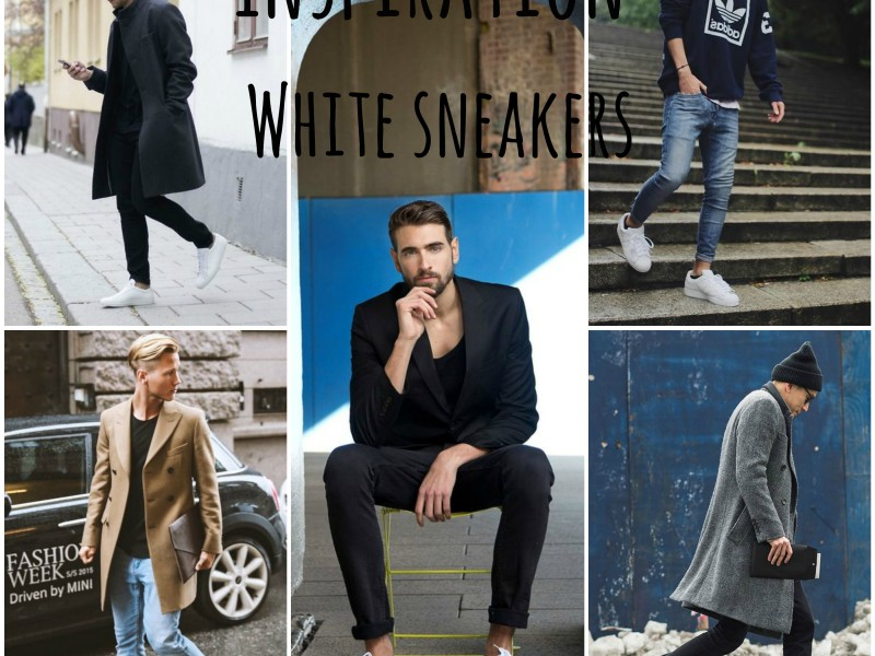 inspiration post how to wear white sneakers
