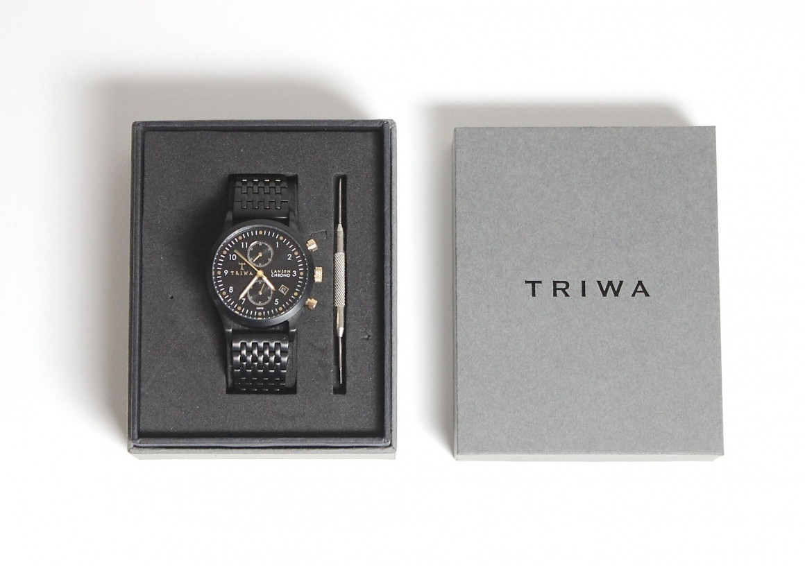 Triwa Watch midnight Lansen Chrono Black coll JustKVN Mens Fashion blog
