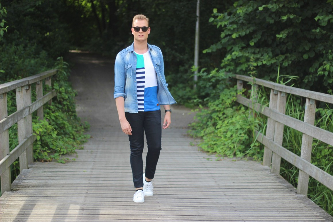 Blocked and Striped JustKVN Menswear blog