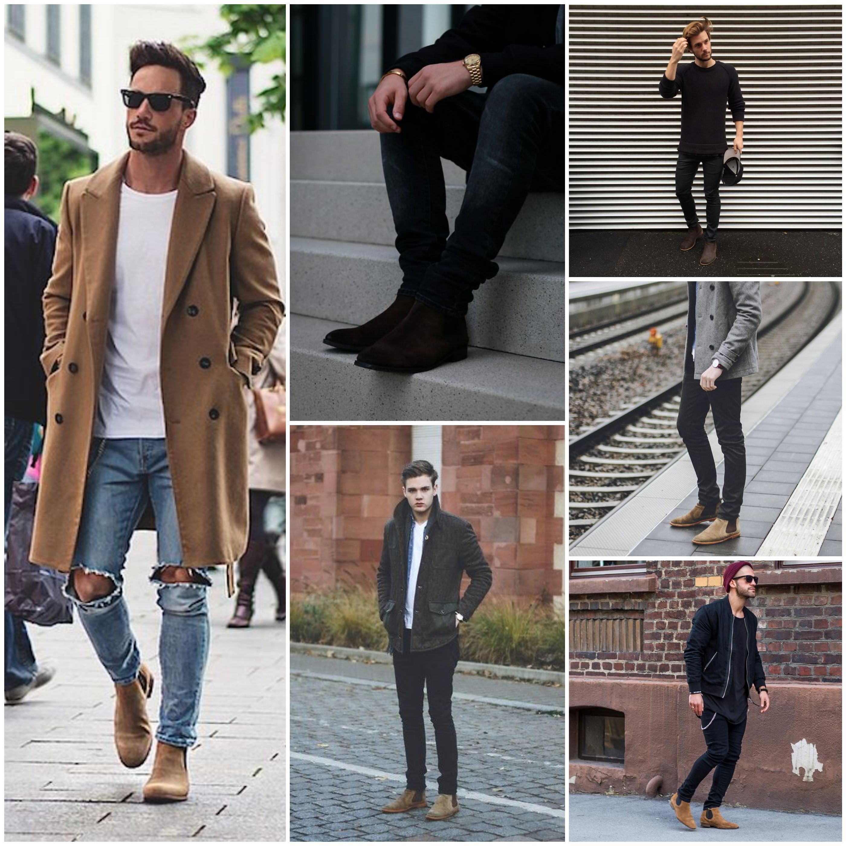 how to wear boots with jeans male