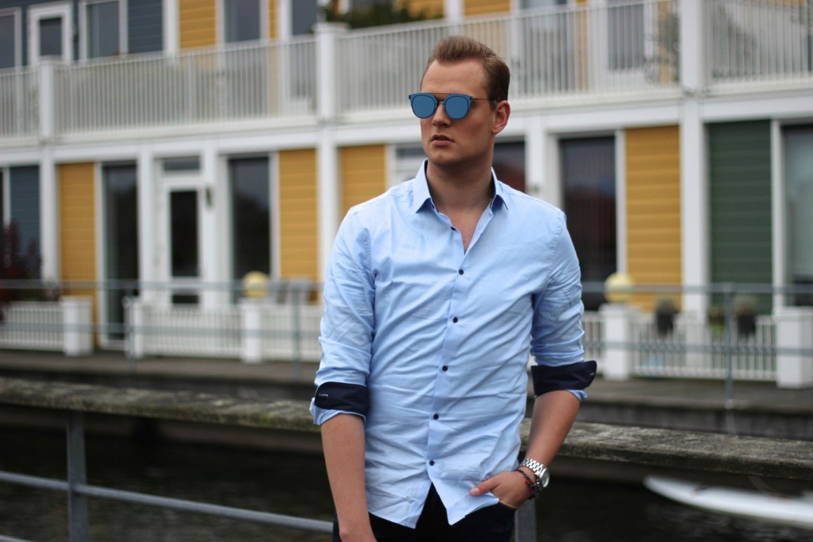 All Blue JustKVN Menswear blog