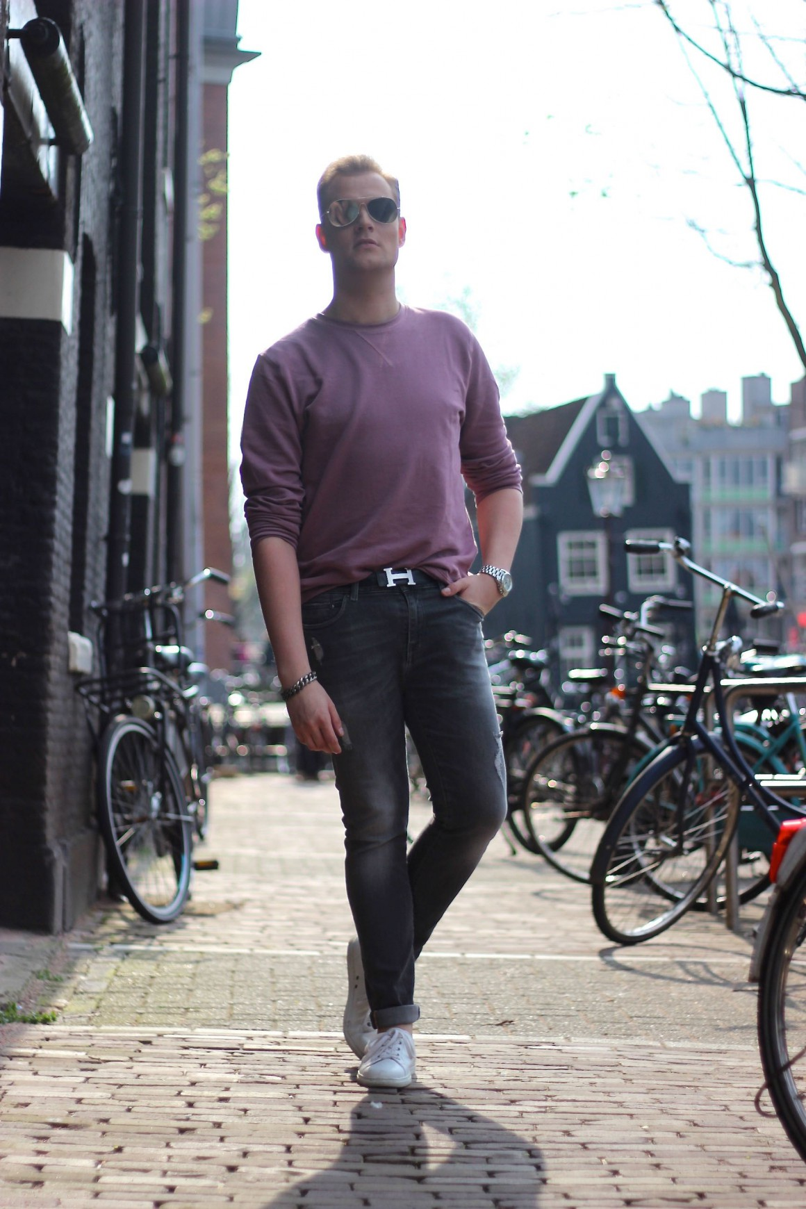Pink Asos sweater JustKVN menswear and lifestyle blog
