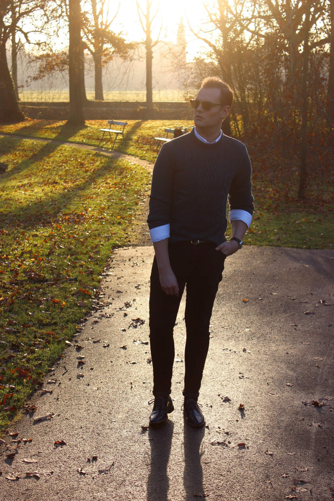 Sunglight wearing Zara knit, asos jeans, rehab shoes, tomford sunglasses JustKVN menswear and lifestyle blog