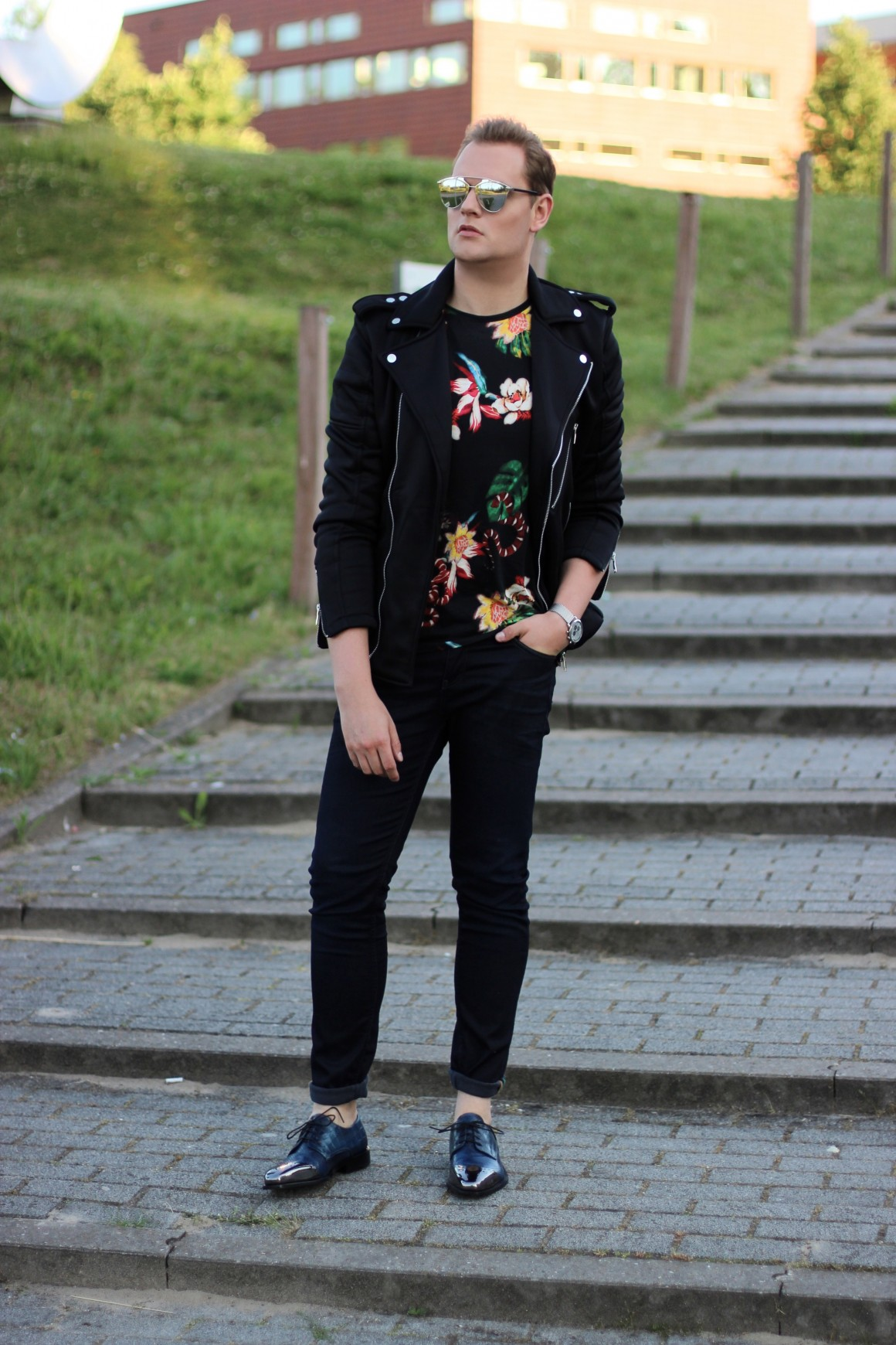 Flower Prints JustKVN menswear and lifestyle blog. Zara shirt, Melvin and Hamilton shoes