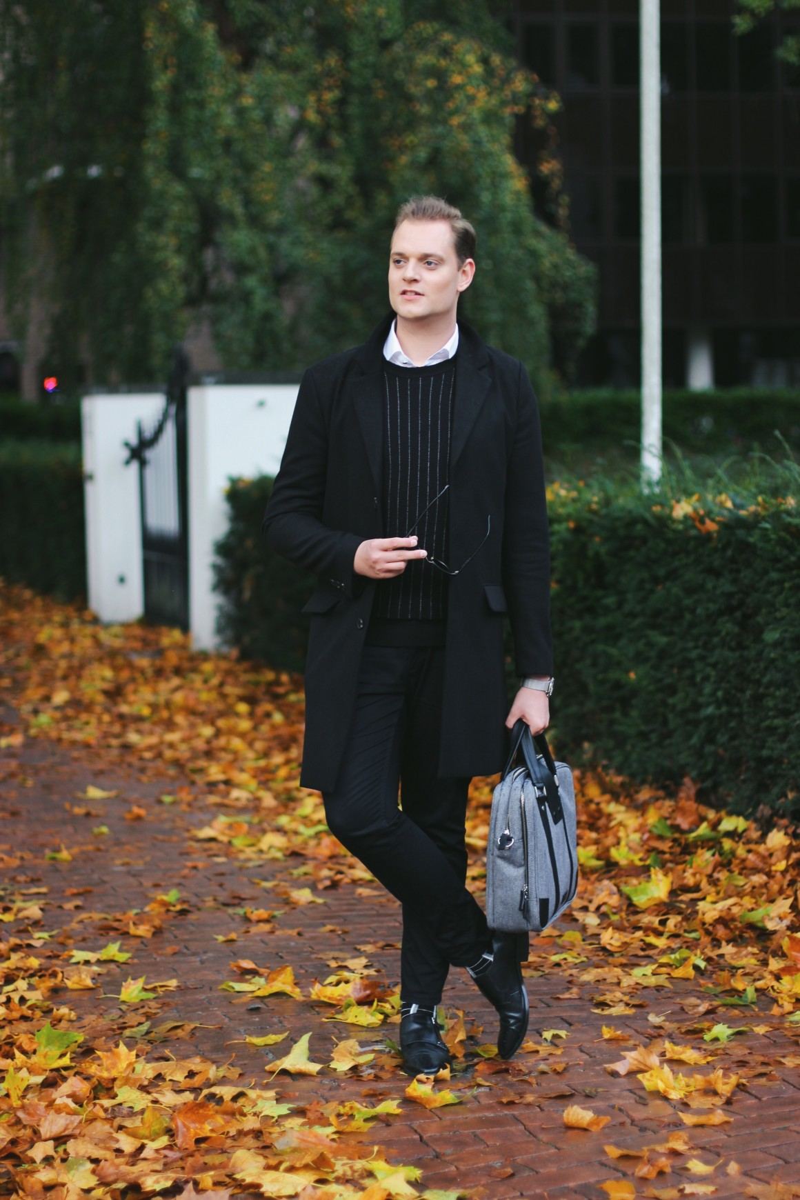 Monochrome fall look men JustKVN menswear and lifestyle blog