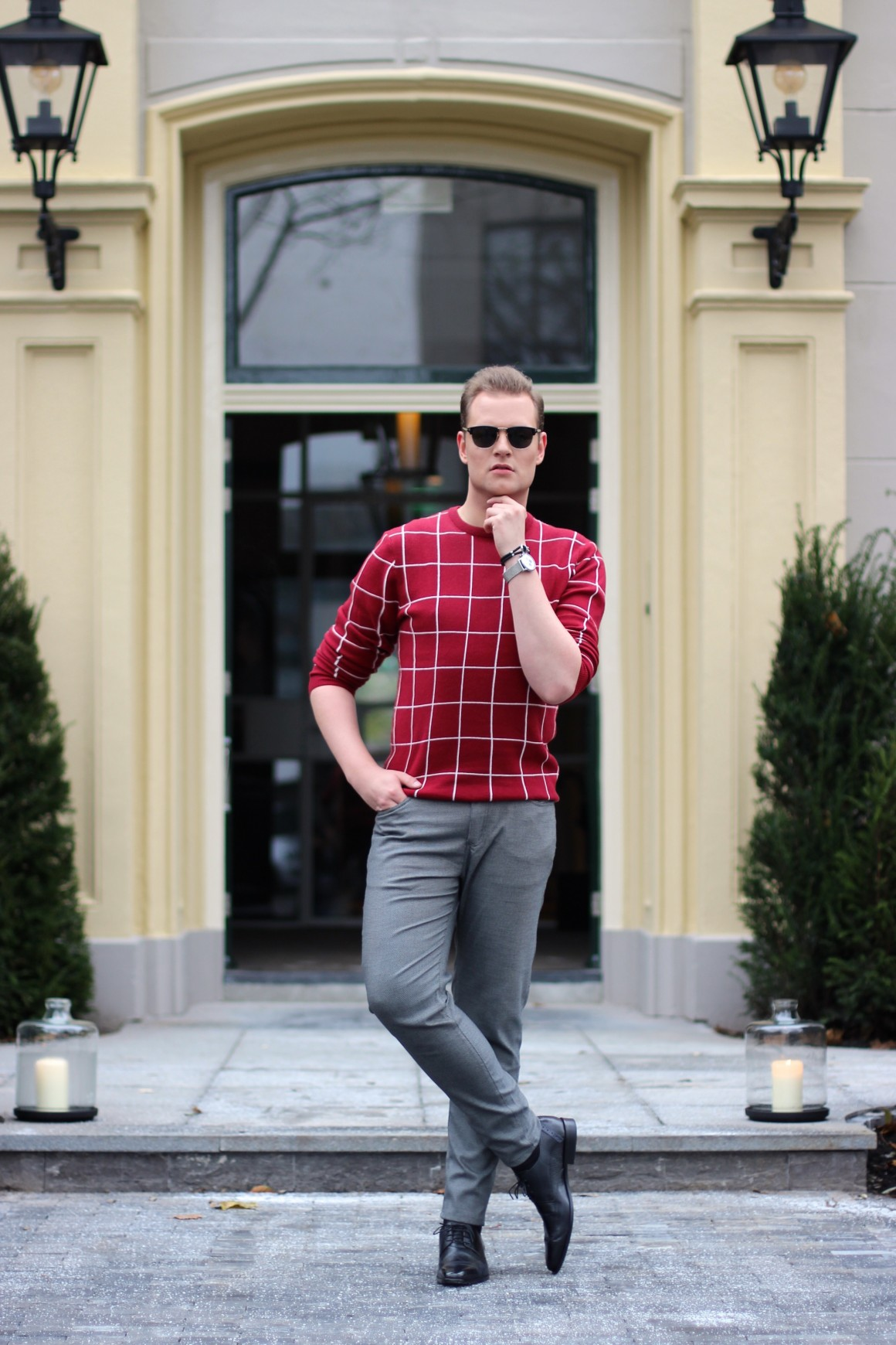 Something Red Outfit JustKVN menswear and lifestyle blog