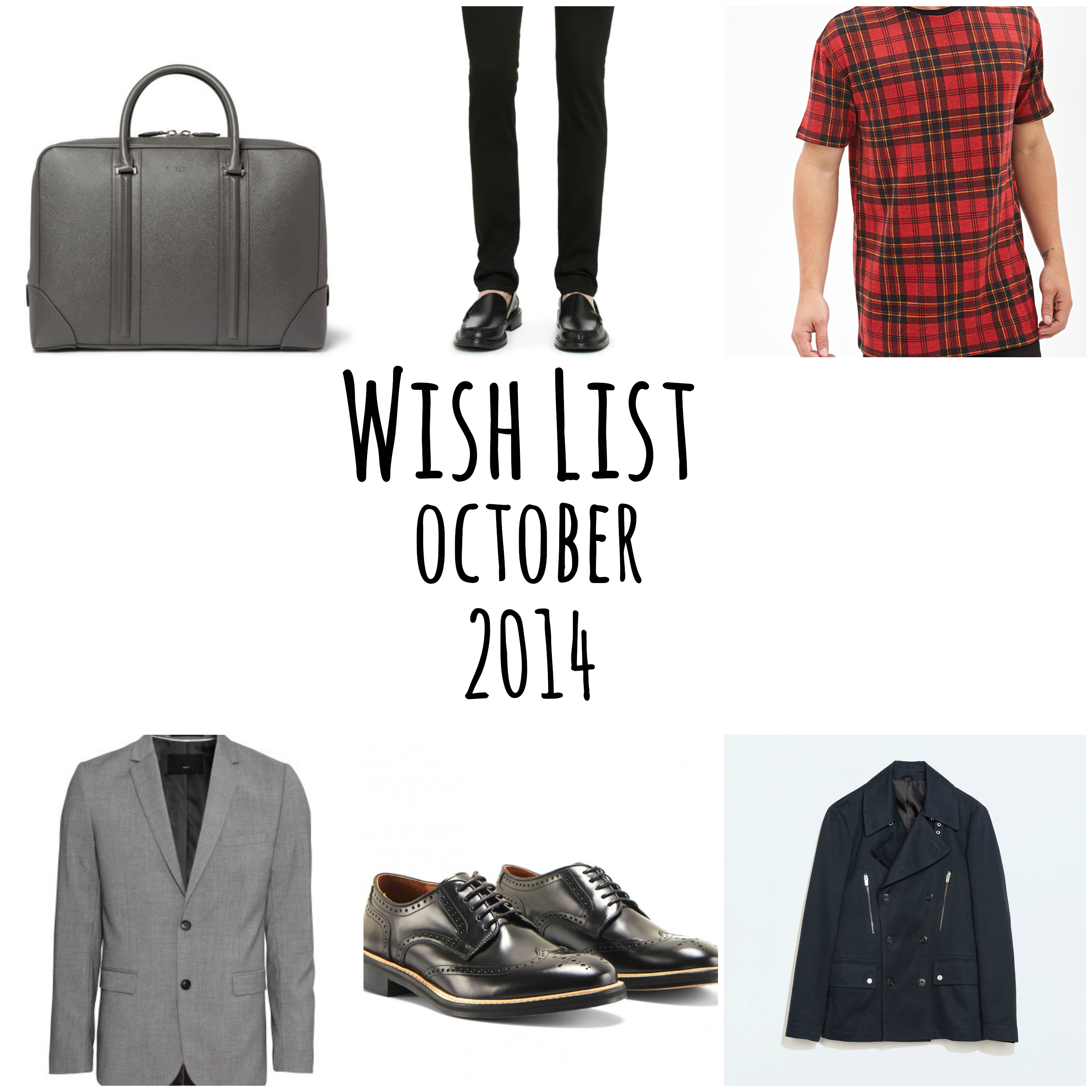 Wish List October - Givenchy - Acne Studios