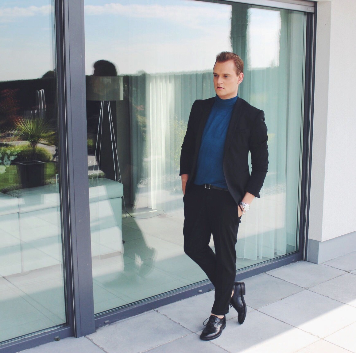 Blue Turtle Neck JustKVN Menswear blog