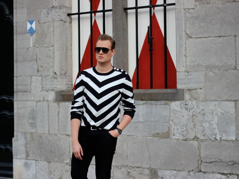 Stripes Balmain x H&M JustKVN menswear blog