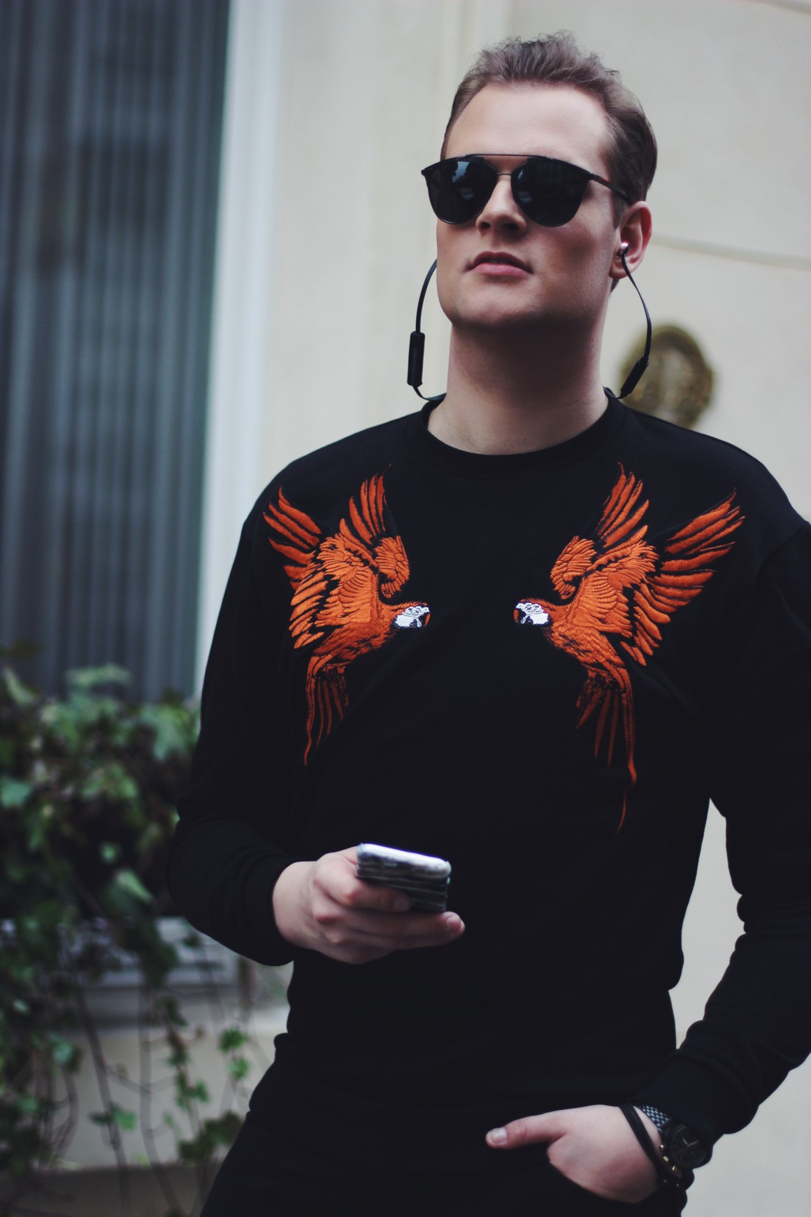 Parrots Zara Sweater, Zara trousers, Gstar shoes, Stylerepertoire sunglasses, Triwa watch, deux bracelets, ootd - JustKVN menswear and lifestyle blog