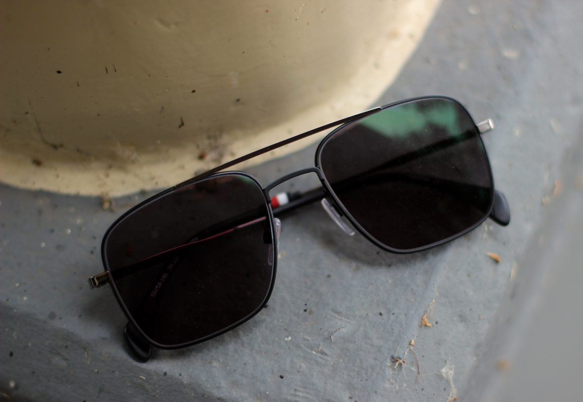 70's trend with sunglasses from Specsavers JustKVN TOMMY HILFIGER